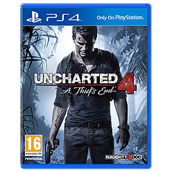 Uncharted 4: A Thief's End PlayStation 4 Cover Art