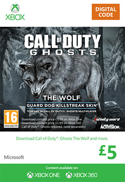 Call of Duty: Ghosts - The Wolf Skin Xbox Live Cover Art