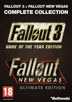 Fallout 3 GOTY + Fallout: New Vegas Ultimate Edition PC Games Cover Art