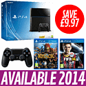 PlayStation 4 with FIFA 14, Knack and Additional DualShock 4 PlayStation 4