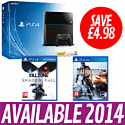 PlayStation 4 with Killzone: Shadow Fall and Battlefield 4 PlayStation 4