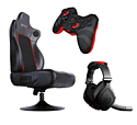 PS3 Pro Gaming Kit: RC5 Gaming Chair, EX06 Stereo Headset and SC1 Controller Accessories