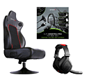X360 Pro Gaming Kit: RC5 Gaming Chair, EX06 Stereo Headset and Elite Essentials Pack Accessories