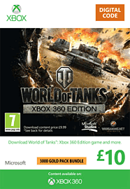 World of Tanks - £10 Top Up Xbox Live Cover Art