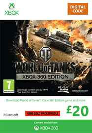 World of Tanks - £20 Top Up Xbox Live Cover Art