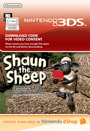 Shaun the Sheep Episode 6-10 Nintendo-3DS Cover Art