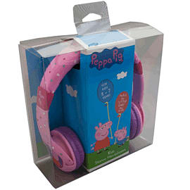Peppa Pig Headphones - Peppa Hearts Purple Accessories