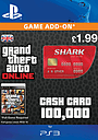 GTA Online Red Shark Cash Card - $100,000 PlayStation Network