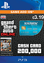 GTA Online Tiger Shark Cash Card - $200,000 (PS3) PlayStation Network