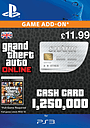 GTA Online Great White Shark Cash Card - $1,250,000 PlayStation Network