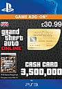 GTA Online Whale Shark Cash Card - $3,500,000 (PS3) PlayStation Network