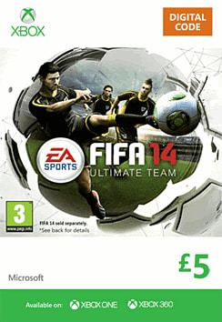FIFA 14 Ultimate Team £5 Top Up Xbox Live