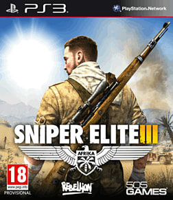 Sniper Elite III PlayStation 3 Cover Art