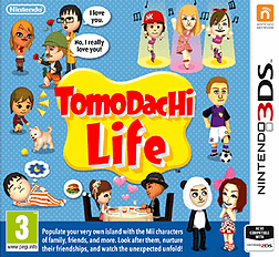 Tomodachi Life 3DS Cover Art