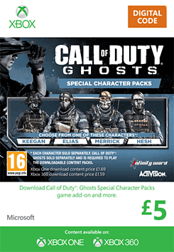 Call of Duty: Ghosts Special Characters Packs Xbox Live Cover Art