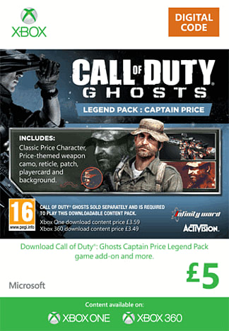 Call of Duty: Ghosts Captain Price Legend Pack