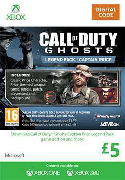 Call of Duty: Ghosts Captain Price Legend Pack Xbox Live Cover Art