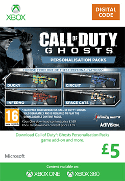 Call of Duty: Ghosts Personalisation Packs Xbox Live Cover Art