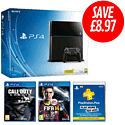 PlayStation 4 with Call of Duty: Ghosts, FIFA 14 and PlayStation Plus 12 Month Membership PlayStation 4