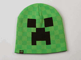 Minecraft Creeper Face Beanie Hat Counter Basket