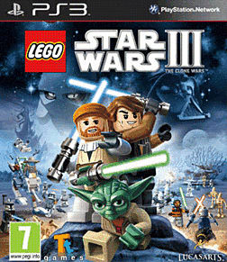 Lego Star Wars 3: The Clone Wars PlayStation 3 Cover Art
