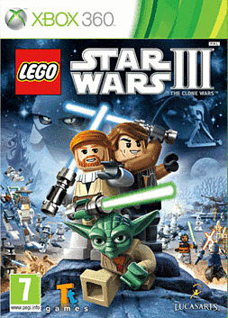 Lego Star Wars 3: The Clone Wars Xbox 360 Cover Art
