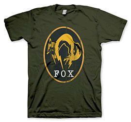 Metal Gear Solid V: Ground Zeroes Vintage Fox T-shirt Small Clothing