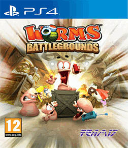 Worms Battlegrounds PlayStation 4 Cover Art
