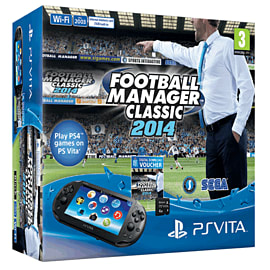 PS Vita with Football Manager 2014 PS-Vita