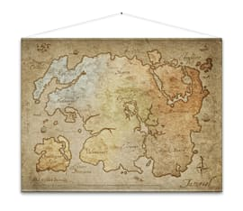 The Elder Scrolls Online Wallscroll Map Clothing and Merchandise