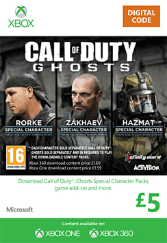Call of Duty: Ghosts Special Characters Packs - Villains Xbox Live Cover Art