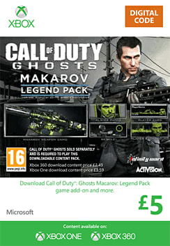 Call of Duty: Ghosts Makarov Legend Pack Xbox Live Cover Art