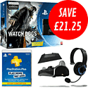 PlayStation 4 with Watch Dogs Special Edition, 12 Month PlayStation Plus and GameWare Starter Pack PlayStation 4