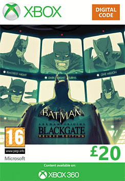 Batman: Arkham Origins Blackgate - Deluxe Edition Xbox Live Cover Art