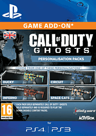 Call of Duty: Ghosts Space Cats Personalisation Pack PlayStation Network