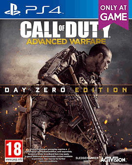 Call of Duty: Advanced Warfare Day Zero Edition with Custom Exo-skeleton – Only at GAME PlayStation 4 Cover Art