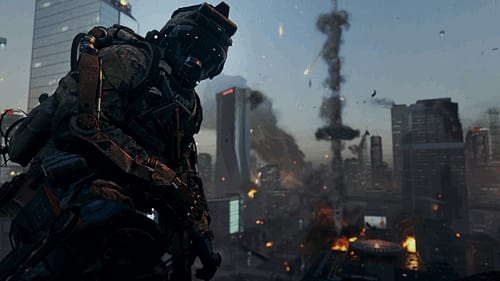 Call of Duty: Advanced Warfare gameplay and story details, screenshots.
