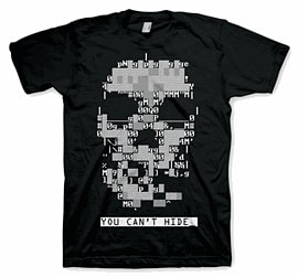 Watch Dogs Skull T-Shirt -XL Clothing and Merchandise