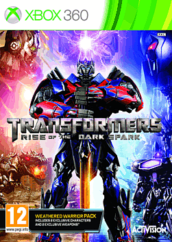 Transformers: Rise of the Dark Spark Weathered Warrior Edition - Only At GAME Xbox 360 Cover Art