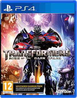 Transformers: Rise of the Dark Spark Weathered Warrior Edition PlayStation 4 Cover Art