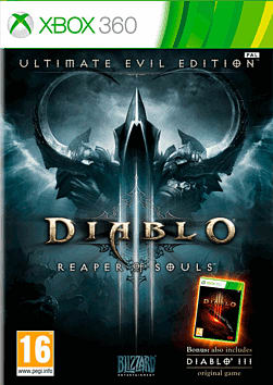 Diablo III Ultimate Evil Edition Xbox 360 Cover Art