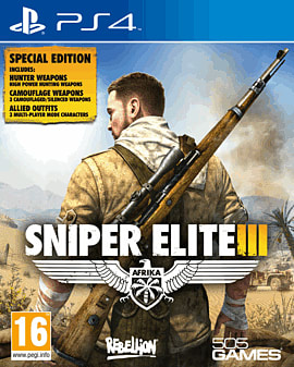 Sniper Elite III Special Edition PlayStation 4 Cover Art