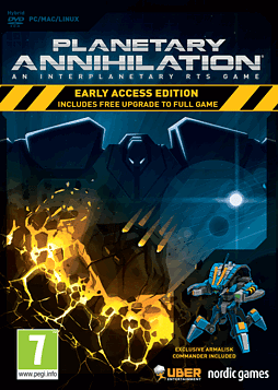 Planetary Annihilation Early Access Edition PC Games Cover Art