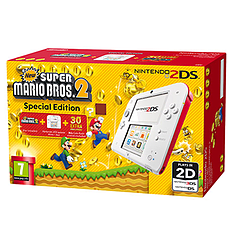 Nintendo 2DS White and Red with New Super Mario Bros 2 2DS