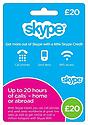 Skype Card - £20 Skype Cards