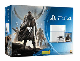 White PlayStation 4 with Destiny + Vanguard - Only at GAME PlayStation 4
