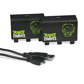 Plants Vs. Zombies Xbox One Play & Charge Battery Pack - Double Pack Accessories