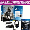 White PlayStation 4 with Destiny + Vanguard, Call of Duty: Ghosts and PlayStation 4 Starter Pack PlayStation 4