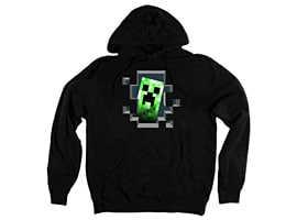 Minecraft Creeper Inside Hoodie (Ages 12-13) Clothing