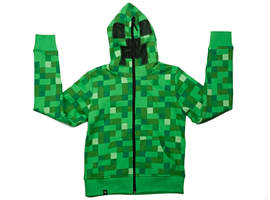 Minecraft Green Creeper Hoodie (Ages 5-6) Clothing